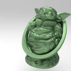 Download free 3D printing files Baby-Yoda, Boris3dStudio