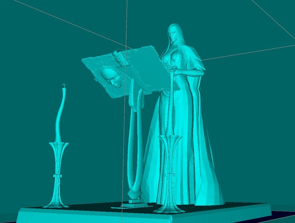 409b56b08eb8f4d1b3d0bd2ec1b903db_display_large.jpg Download free STL file Female Mage Sorcerer • 3D print design, Boris3dStudio