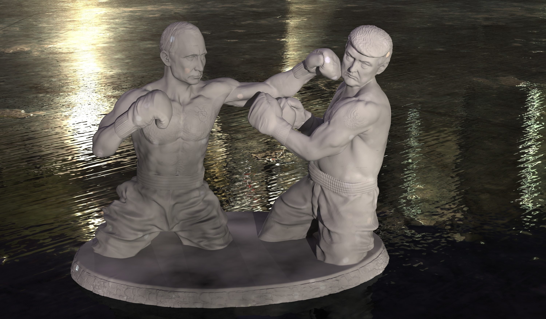 BOX1.jpg Download free STL file Putin and Tramp boxing • Template to 3D print, Boris3dStudio