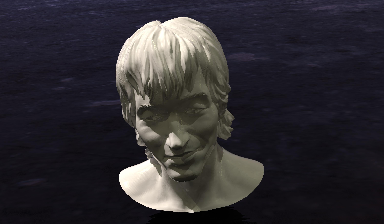 thing.jpg Download free STL file Victor TSOY bust (Виктор Цой Бюст) • 3D printable template, Boris3dStudio