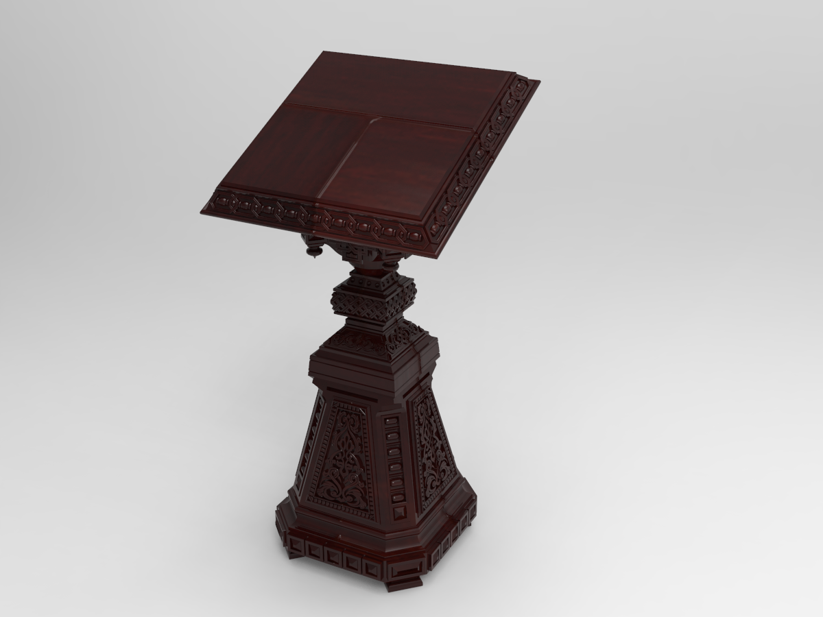 Owl_Shield.231.png Download free STL file Analogion - stand for books for priest or profet (For DND miniature and remixes) • 3D print object, Boris3dStudio