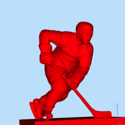 Download free 3D printing models Hockey player number 9, Boris3dStudio