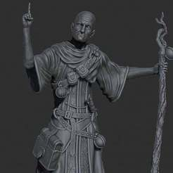 Download free STL file Old Priest (Warlock) • 3D printer design, Boris3dStudio