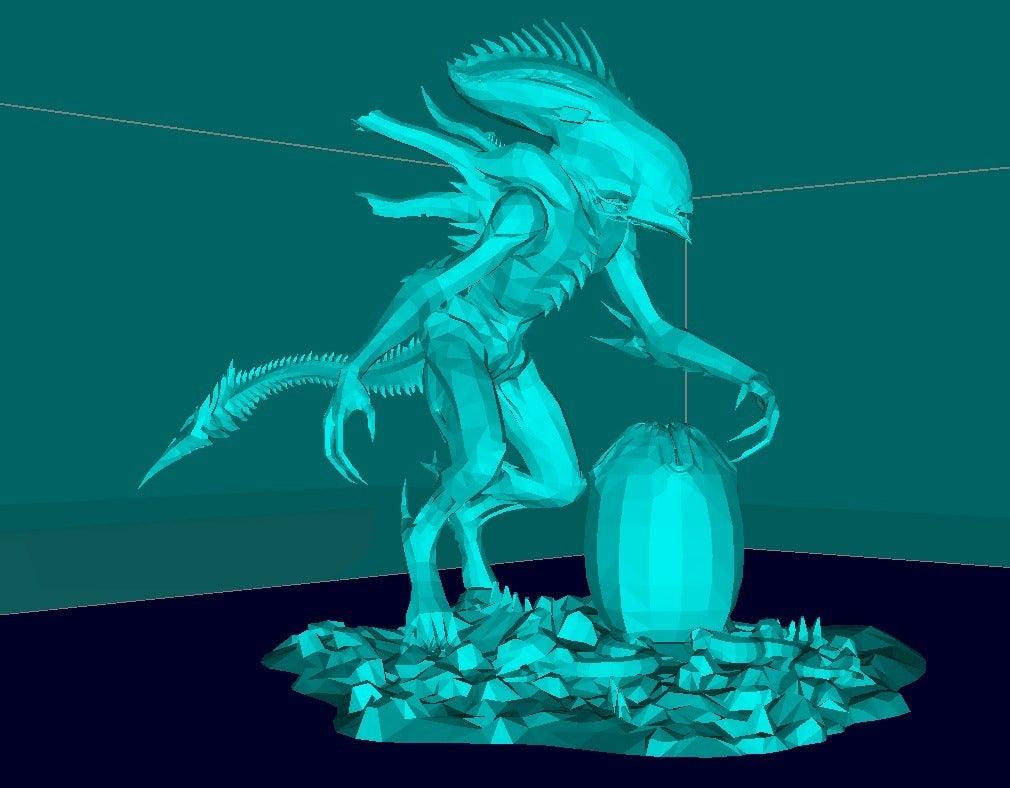 93dd1e06e1769cae48862d2069f3e19b_display_large.jpg Download free STL file Alien with the Egg • 3D print design, Boris3dStudio