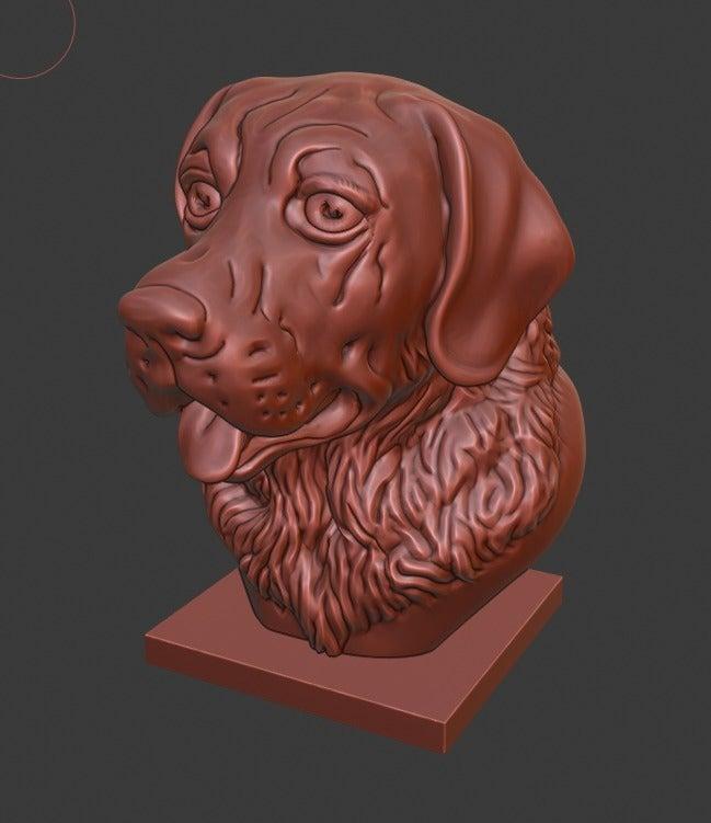 9e1f9470d5ce1b354234d888603adc7b_display_large.jpg Download free STL file Labrador Retriever bust (Dog head) • 3D printable object, Boris3dStudio
