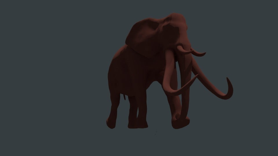 987a31beb4454d9cc169a8bc6ce0e898_display_large.jpg Download free STL file Gomphothere elephant with 4 tusks • 3D printing object, Boris3dStudio
