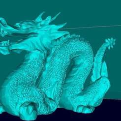Download free 3D printing files Chinese dragon, Boris3dStudio