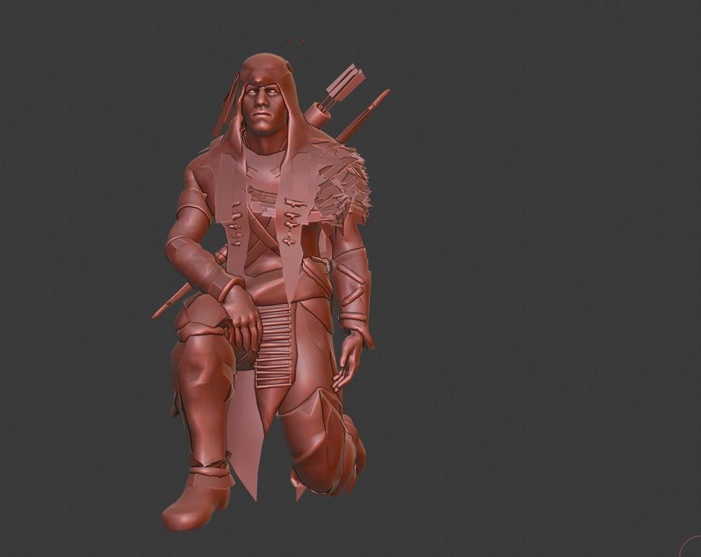 564ad282c9837d7ddb6e6aabf0df7ce5_display_large.jpg Download free STL file Hunter • 3D print template, Boris3dStudio