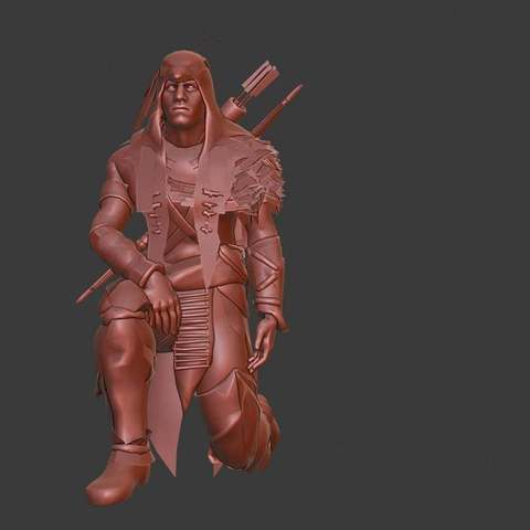 Download free 3D model Hunter, Boris3dStudio