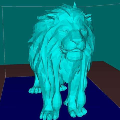 74b2239333ecac54812163a51d338ad1_display_large.jpg Download free STL file Lion, king of the animals • Template to 3D print, Boris3dStudio