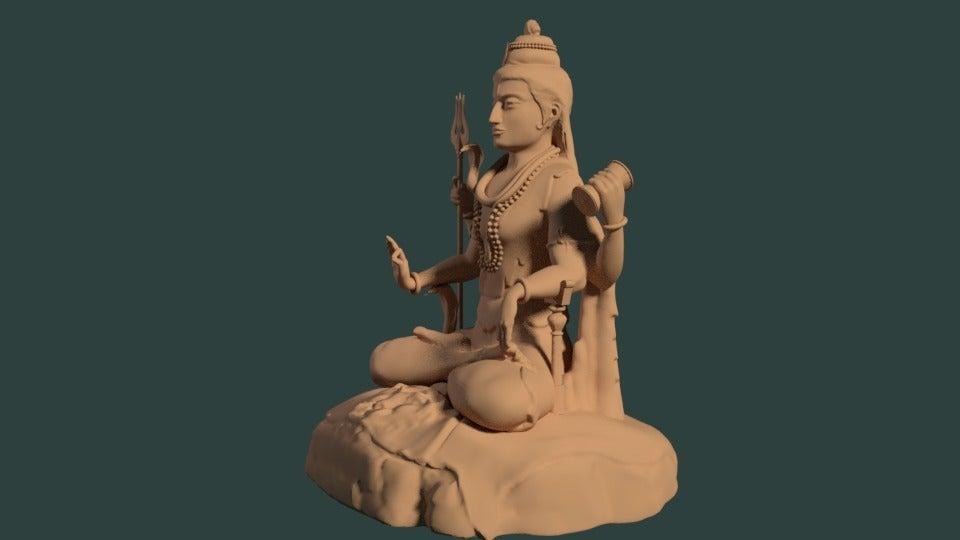 41599a7810e9c6174d0e1bedd4dbabb0_display_large.jpg Download free STL file Statue of Shiva in the lotus position at Murudeshwar • 3D printing model, Boris3dStudio