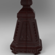 Owl_Shield.236.png Download free STL file Analogion - stand for books for priest or profet (For DND miniature and remixes) • 3D print object, Boris3dStudio