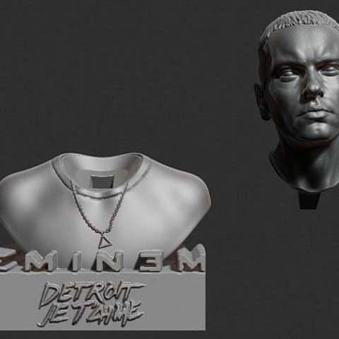 e3ac235c0d9396d4f352ae336efc9ab9_display_large.jpg Download free STL file Eminem bust • 3D printer model, Boris3dStudio