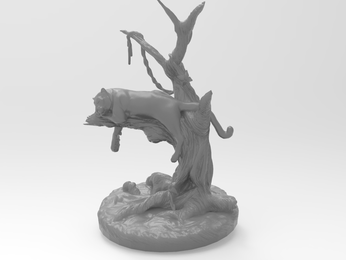 panter.png Télécharger fichier STL gratuit Panthère noire sur un arbre • Modèle à imprimer en 3D, Boris3dStudio