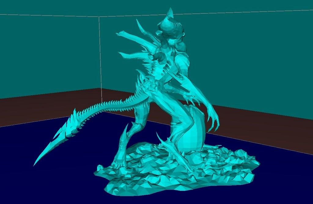 c2c87510e14c17629134ae4ea811df05_display_large.jpg Download free STL file Alien with the Egg • 3D print design, Boris3dStudio