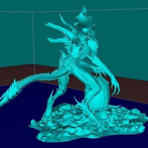 Télécharger fichier 3D gratuit Alien avec l'oeuf, Boris3dStudio