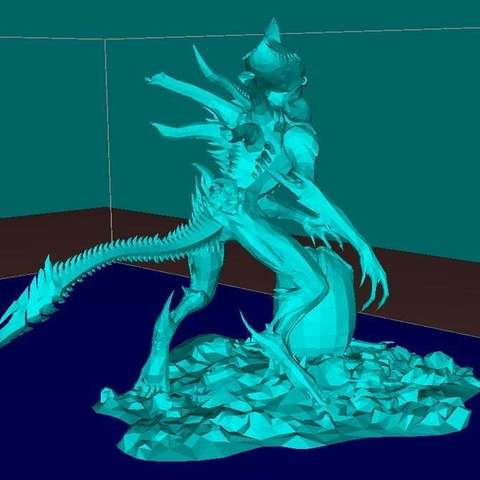 Download free STL Alien with the Egg, Boris3dStudio