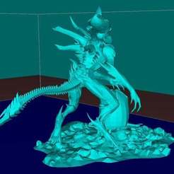 Download free STL Alien with the Egg, Boris3dStudio