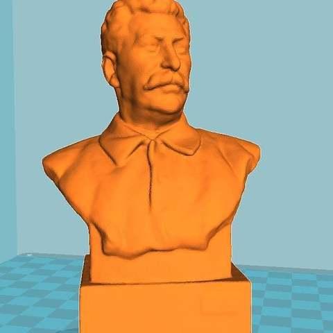 5f6c3ae673fea26446da3cd905536344_display_large.jpg Télécharger fichier STL gratuit Staline BUST du musée GORKI LENINSKIYE • Design pour impression 3D, Boris3dStudio