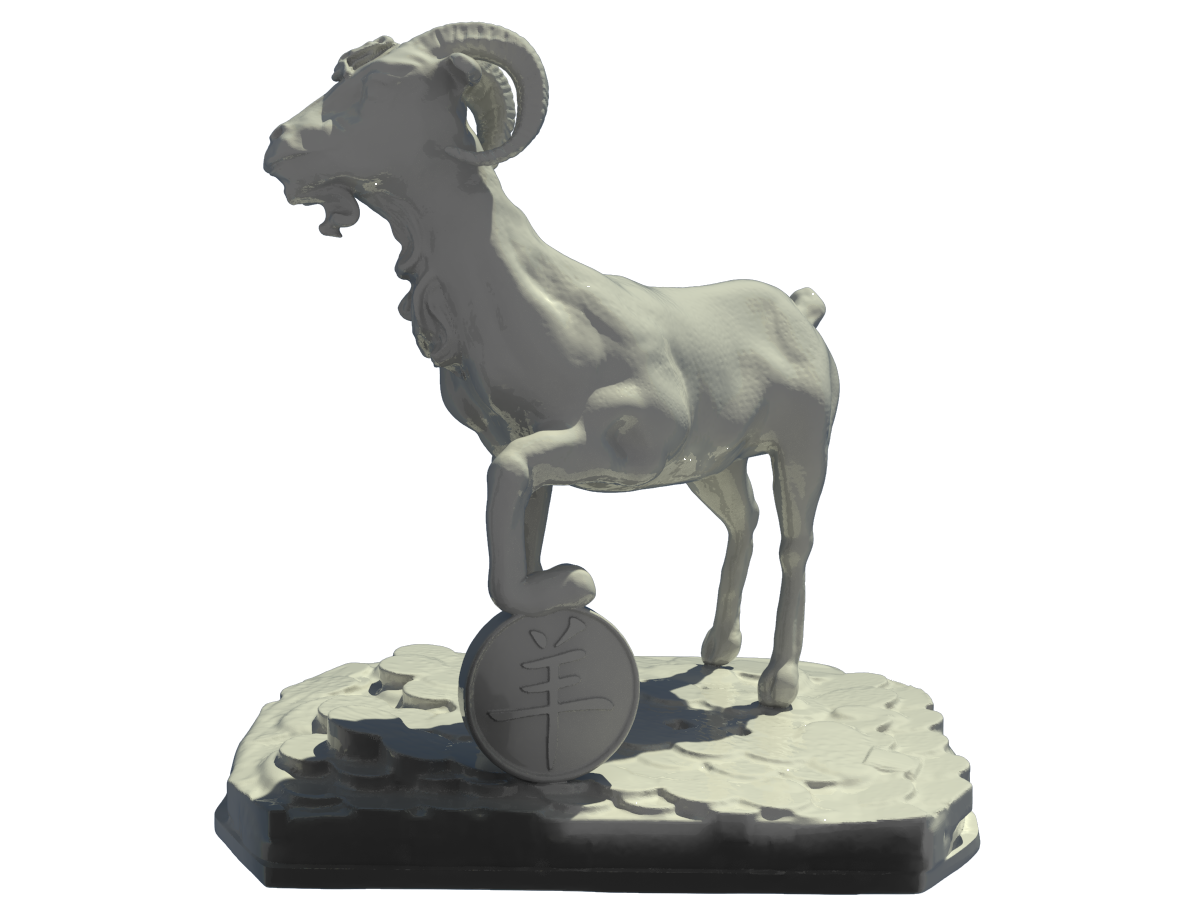 Goat.png Download free STL file Goat • 3D print object, Boris3dStudio