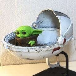 IMG_3529.JPEG Télécharger fichier STL Poussette flottante Baby Yoda • Plan pour impression 3D, KCmechanician