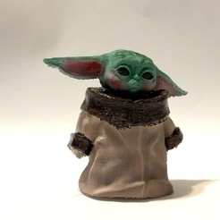 1.jpg Télécharger fichier STL L'enfant (Baby Yoda) V2 • Modèle à imprimer en 3D, KCmechanician