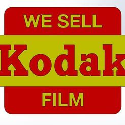 Download free STL files Kodak Sign - Analog Photography, Raketentriebwerk