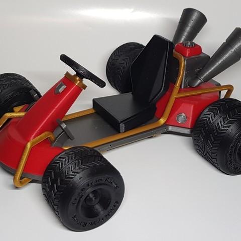 Download free 3D printing models CTR Kart - Crash Bandicoot, Raketentriebwerk