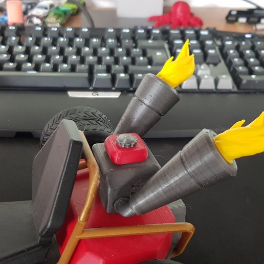 Télécharger fichier 3D gratuit Kart CTR - Flamme, Raketentriebwerk