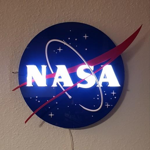 Descargar STL gratis 3D NASA Insignia / Logo / Sign / - Lámpara, Raketentriebwerk