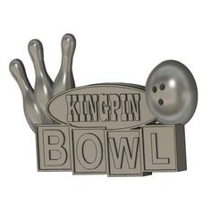 KINGPIN BOWL SIGN.jpg Télécharger fichier STL PANNEAU DE BOWLING KINGPIN • Modèle à imprimer en 3D, skull13studio