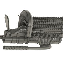 Screen Shot 2020-12-26 at 10.27.55 PM.png Download STL file DIESEL PUNK ATTACK CHOPPER • 3D printer model, skull13studio