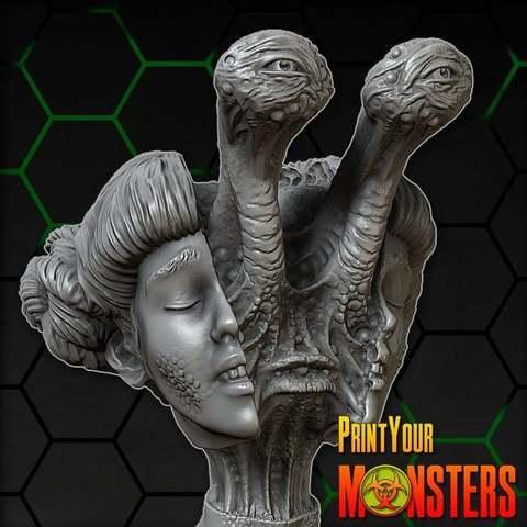 Download free 3D printer designs MUTANT FEMALE, PrintYourMonsters