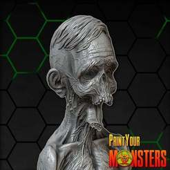 8fd8472d7b43865b3fb05c3d3b997e13_display_large.jpg Download free STL file ZOMBIE TONGUE • 3D printing template, PrintYourMonsters