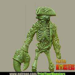 Imprimir en 3D gratis PIRATA MALTRATADA, PrintYourMonsters
