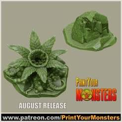 Descargar Modelos 3D para imprimir gratis PLANTA CARNÍVORA Y ROCA, PrintYourMonsters