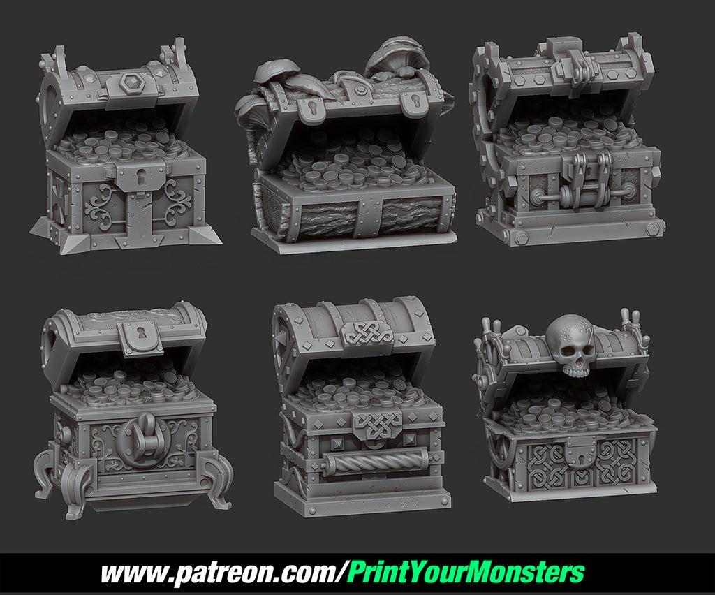 24581186d366391114639c37084d0893_display_large.jpg Download free STL file TREASURE CHEST OPENED • 3D printer model, PrintYourMonsters