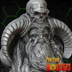 Download free 3D printer designs OLD WARRIOR, PrintYourMonsters