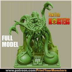 Download free 3D model FULL-MODEL - Tentacle Monster, PrintYourMonsters