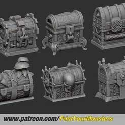 Download free 3D printer model CLOSED TREASURE CHEST, PrintYourMonsters
