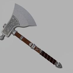 Impresiones 3D Hacha de cuchillo de Eivor, glargonoid
