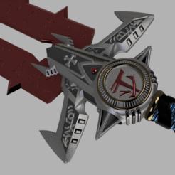 Doom sword v123.png Download STL file Doom Eternal sword • 3D printing object, glargonoid