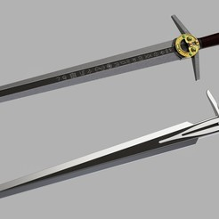 Witcher_swords_Netflix_2020-Oct-29_12-08-50PM-000_CustomizedView22599387262_jpg.jpg Download STL file Witcher steel and silver sword • 3D printing model, glargonoid