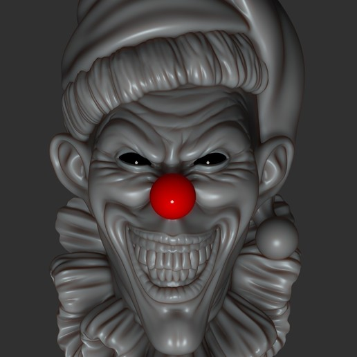 Download STL Scary clown, 02_mm