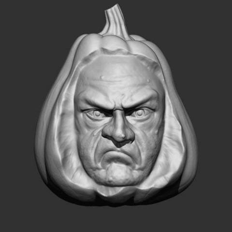 Download free 3D printer model carving pumpkin for halloween, 02_mm