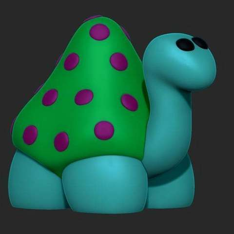 Download free 3D printer model Cartoon turtle, 02_mm