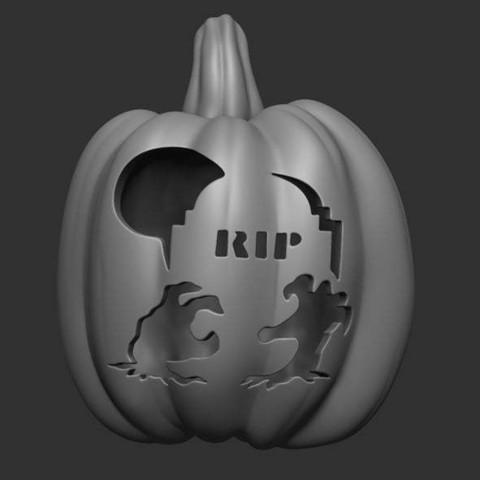 Descargar diseños 3D gratis Lámpara de calabaza, 02_mm