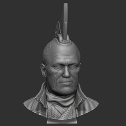 1.jpg Download STL file Yondu Udonta bust • 3D printer object, 02_mm
