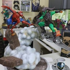 Download 3D printer files SpiderMan vs Green Goblin, ThunderToy
