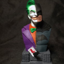 Télécharger fichier impression 3D Batman vs Buste de Joker de Batman, ThunderToy